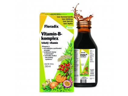 Salus Floradix Vitamin B Komplexje přírodní doplněk stravy s obsahem vitamínů řady B. Napomáhá psychické a fyzické vyrovnanosti a pomáhá při únavě a vyčerpání.