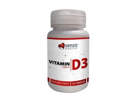 Senza Vitamín D3, prevence kardiovaskulárních chorob, pomáhá chránit imunitní systém a podporuje správný vývoj kostí, zubů a svalů