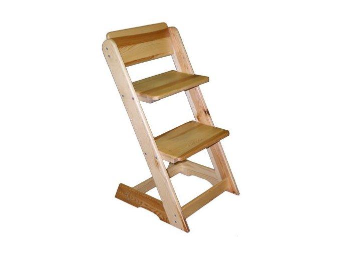 Dětská rostoucí židle - borovice