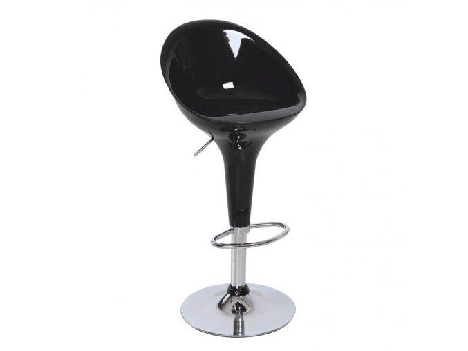Barová židle ALBA NOVA - chrom / černá