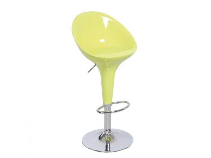 Barová židle ALBA NOVA - chrom / zelená