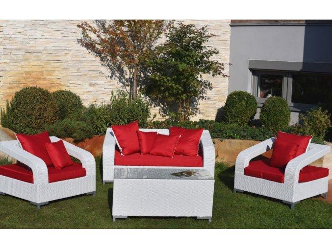 Dimenza zahradní sedací souprava BORDEAUX - bílá