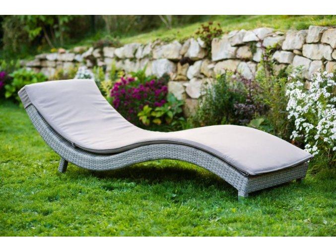 Zahradní pohodlné lehátko BARCELONA - šedé