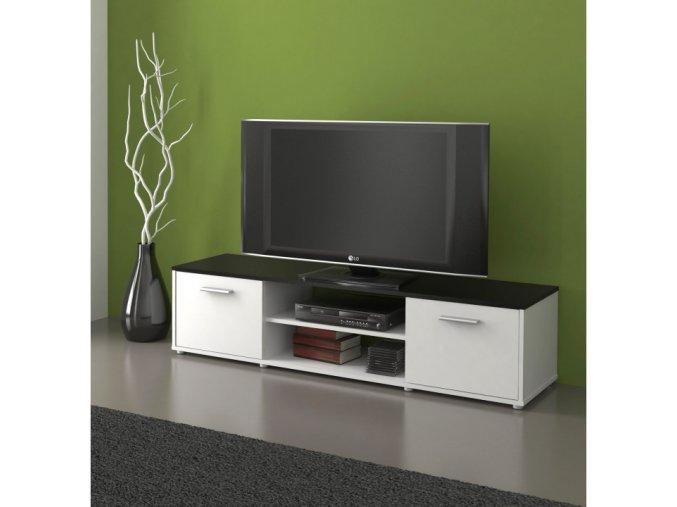TV stolek ZUNO 01 - černá/bílá