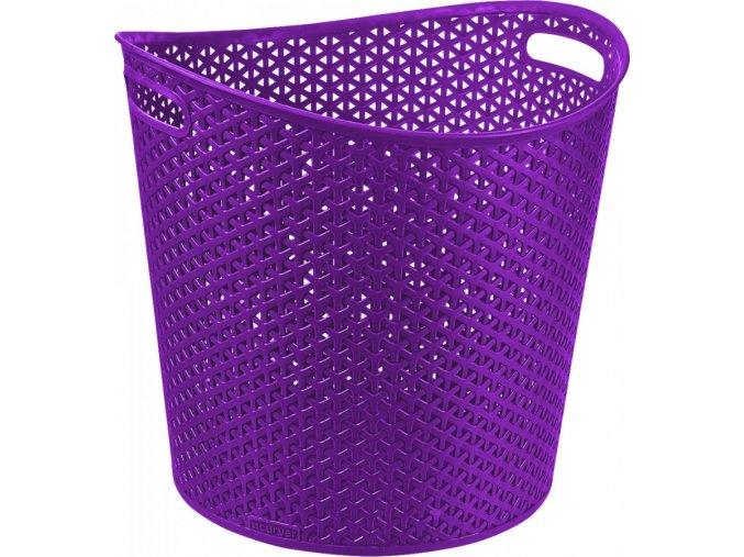 Koš na prádlo MY STYLE 30L - fialový