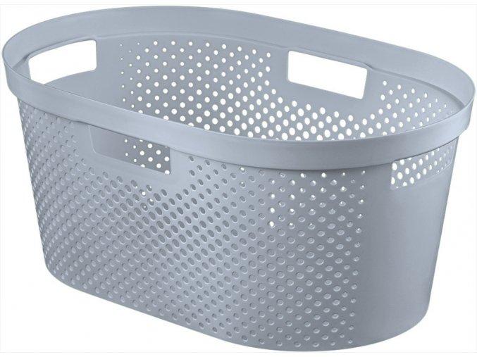 Koš na čisté prádlo INFINITY DOTS 39L - šedý