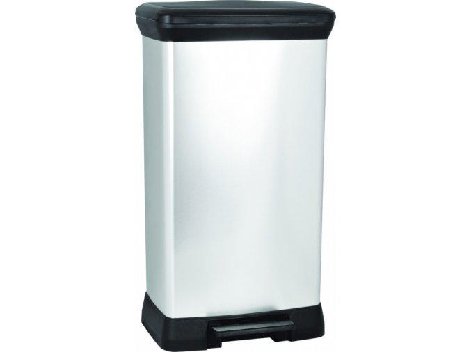 Odpadkový koš DECOBIN 50L - stříbrný