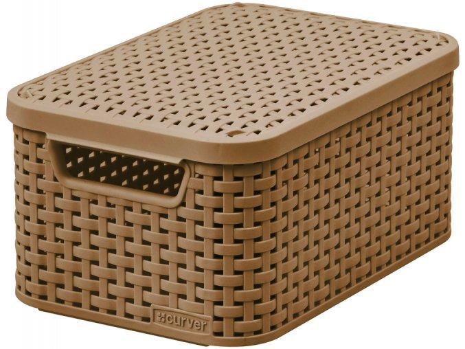Box s víkem STYLE - S - mocha