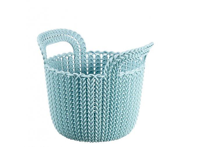 Košík KNIT KULATÝ 3L - modrý