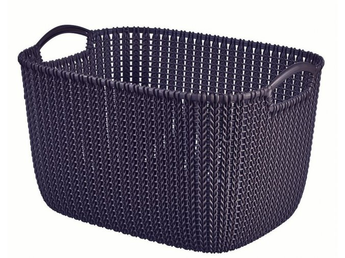 Košík KNIT 19L - fialová