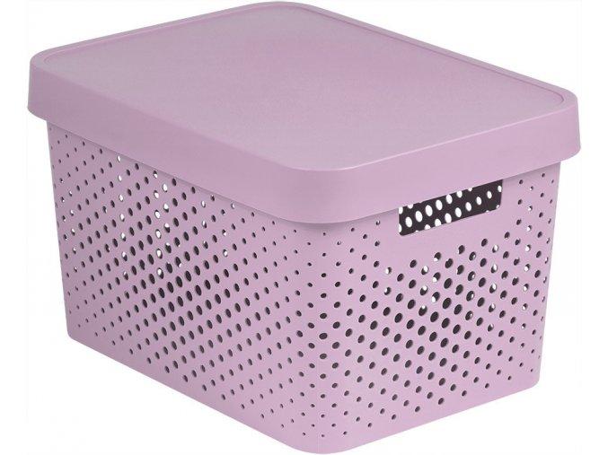 Box INFINITY DOTS 17L - růžový