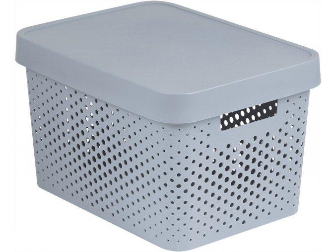 Box INFINITY DOTS 17L - šedý