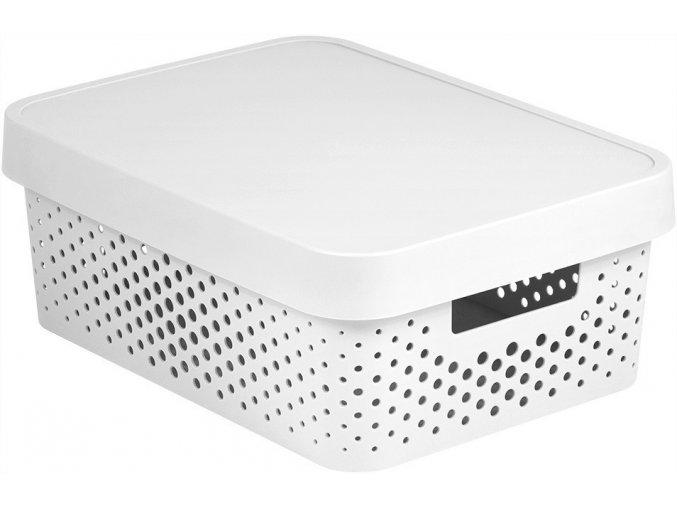 Box INFINITY DOTS 11L - bílý