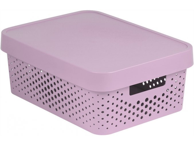 Box INFINITY DOTS 11L - růžový