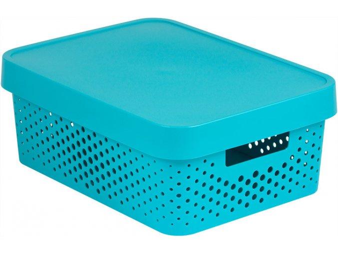 Box INFINITY DOTS 11L - modrý