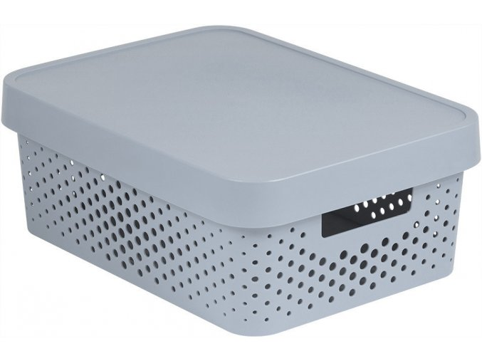 Box INFINITY DOTS 11L - šedý