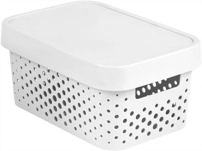 Box INFINITY DOTS 4,5L - bílý