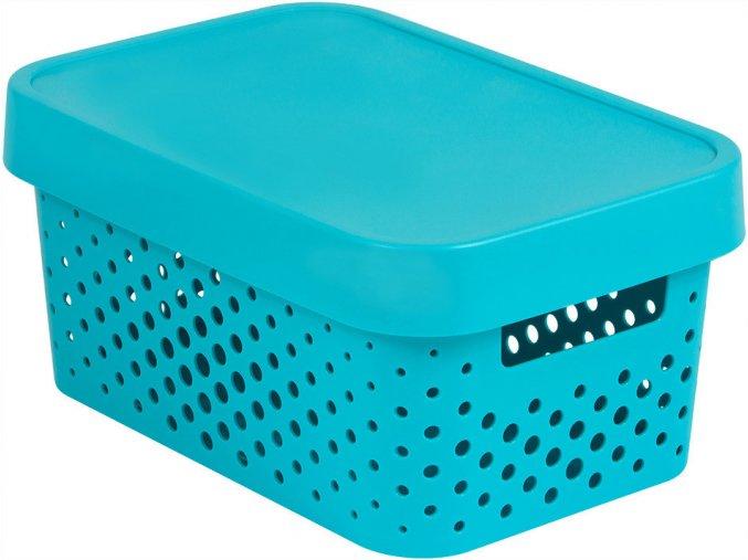 Box INFINITY DOTS 4,5L - modrý