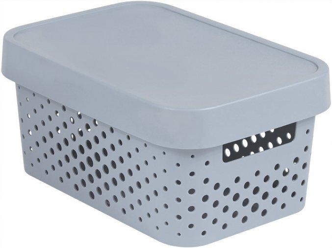 Box INFINITY DOTS 4,5L - šedý