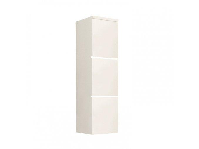 Vysoká skříňka MASON WH 11 - bílá / bílý lesk
