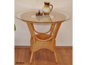 Ratanový jídelní stůl Wanuta