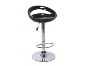 Barová židle DONGO NOVE - černá / chrom