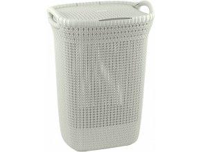 Koš na prádlo KNIT 57L - krémový