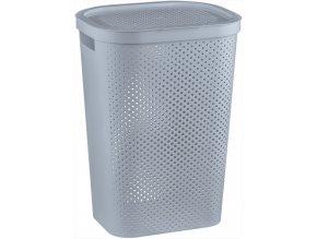 Koš na prádlo INFINITY DOTS 59L - šedý