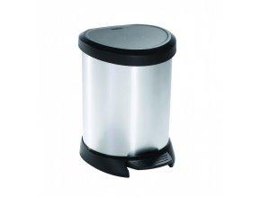 Odpadkový koš DECOBIN 5L - stříbrný