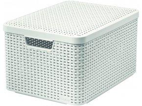 Box s víkem STYLE - L - krémový