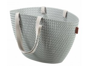 Bag EMILY KNIT - šedomodrá