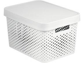 Box INFINITY DOTS 17L - bílý