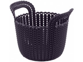 Košík KNIT KULATÝ 3L - fialový