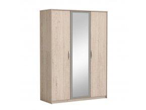 Skříň se zrcadlem GRAPHIC - dub arizona / šedá