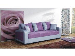 Pohovka Zara - fialová/EKO šedá