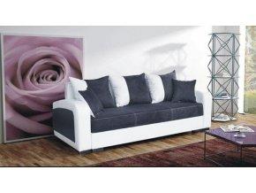 Pohovka Zara - černá/EKO bílá