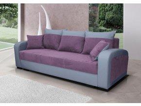 Pohovka Zara II - fialová/EKO šedá