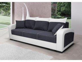 Pohovka Zara II - černá/EKO bílá