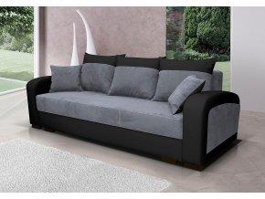 Pohovka Zara II - šedá/EKO černá