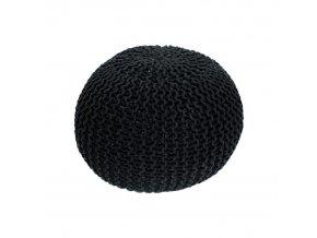 Pletený taburet GOBI TYP 2 - černá bavlna