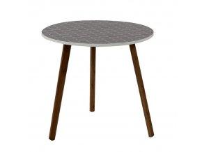 Příruční stolek HANSON - šedá / dřevo natural