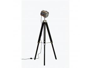 Stojací lampa Cindy Typ 26 - dřevo / kov