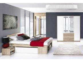 Ložnice MILO III ( postel 160, skříň )