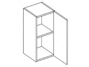 W30P horní skříňka jednodvéřová PREMIUM de LUX olše
