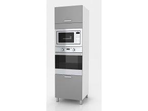 Vysoká kuchyňská skříňka Natanya SP šedý lesk