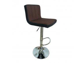 Barová židle, hnědá / černá, HILDA