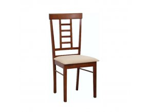 Jídelní židle OLEG NEW - ořech / béžová