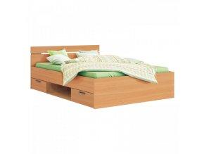 Multifunkční postel 140x200 MICHIGAN buk