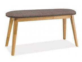 Čalouněná lavice KARL šedá/dub