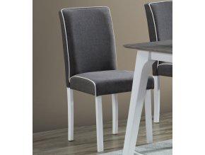 Jídelní čalouněná židle LINIE šedá/bílá